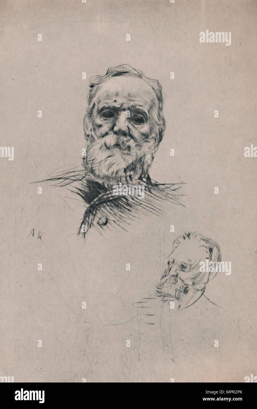 'Victor Hugo', c.1884, (1946). Artist: Auguste Rodin. - Stock Image