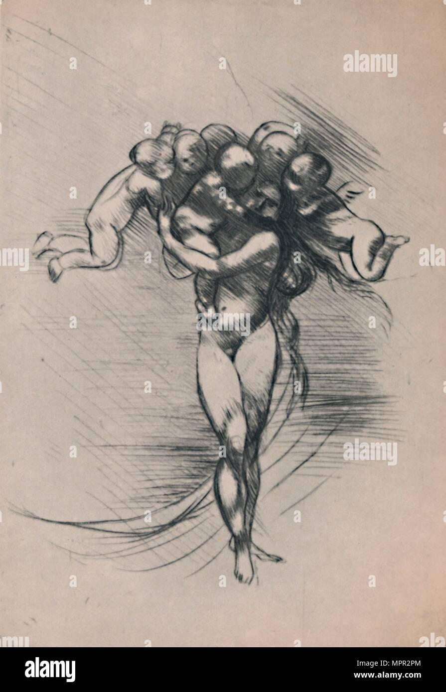 'Springtime', c.1880s, (1946). Artist: Auguste Rodin. - Stock Image