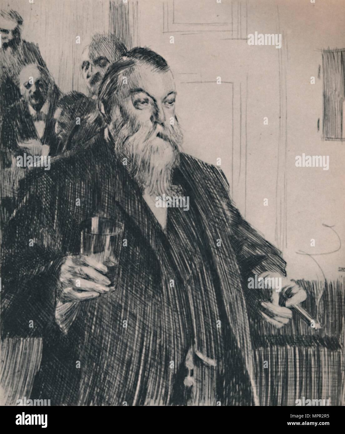 'The Toast', 1890s, (1946).  Artist: Anders Leonard Zorn. - Stock Image