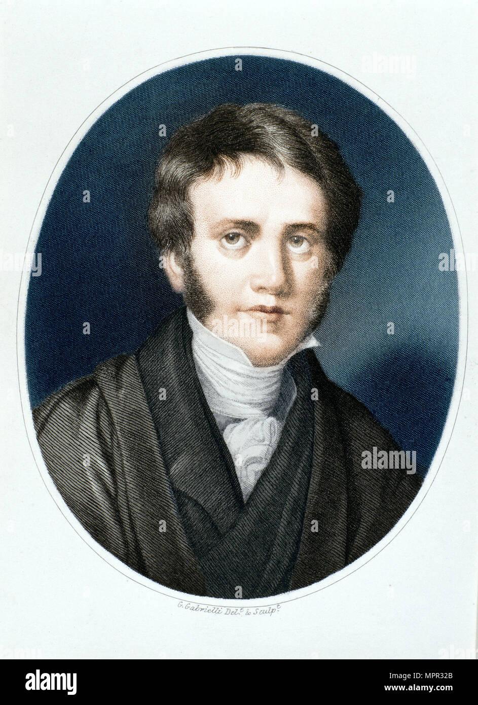 Sir John Herschel, astronomer and scientist, 1810s. Artist: Gaspare Gabrielli. - Stock Image