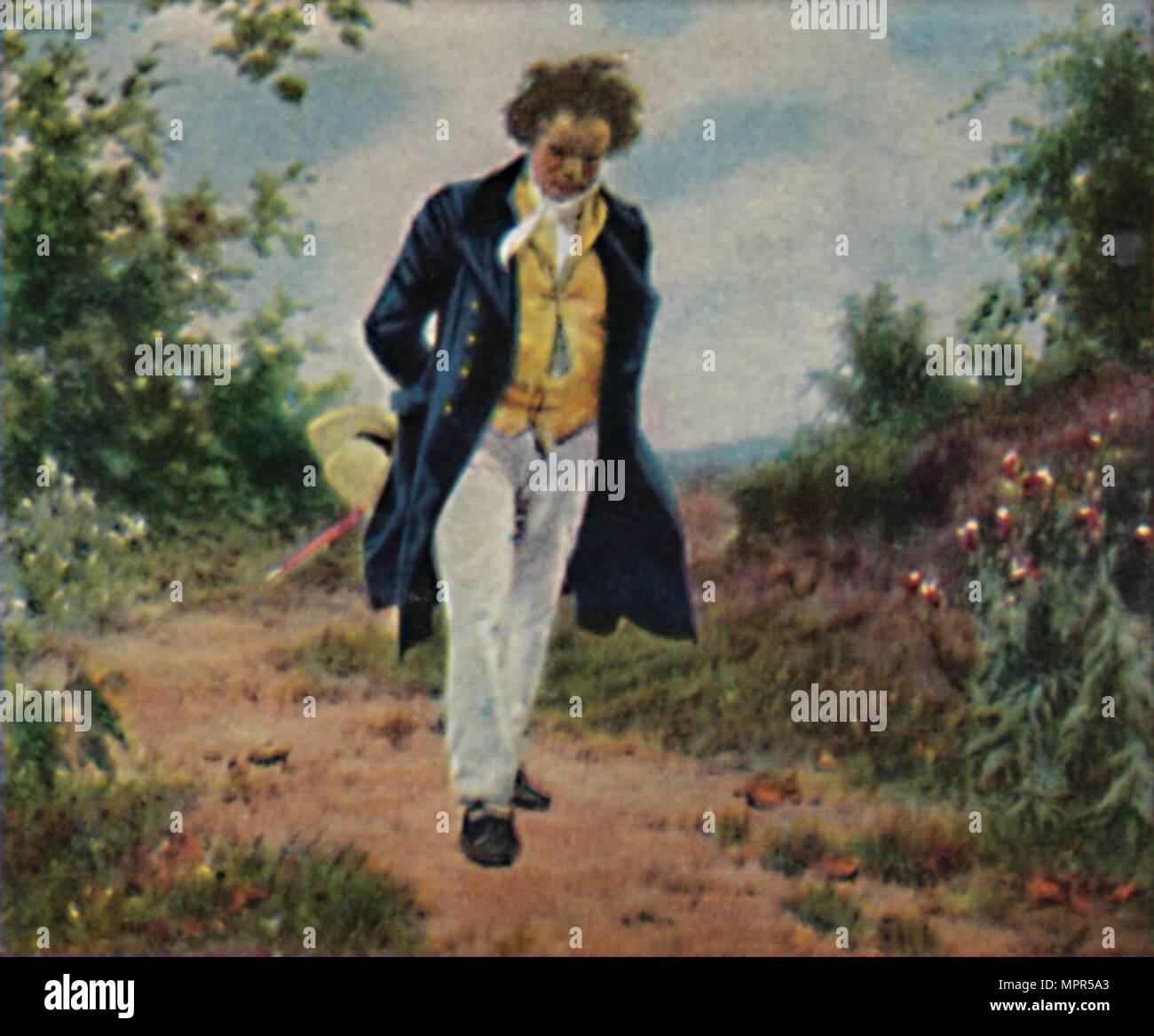 'Ludwig van Beethoven 1770-1827. - Gemälde von Schmid', 1934. Artist: Unknown. - Stock Image