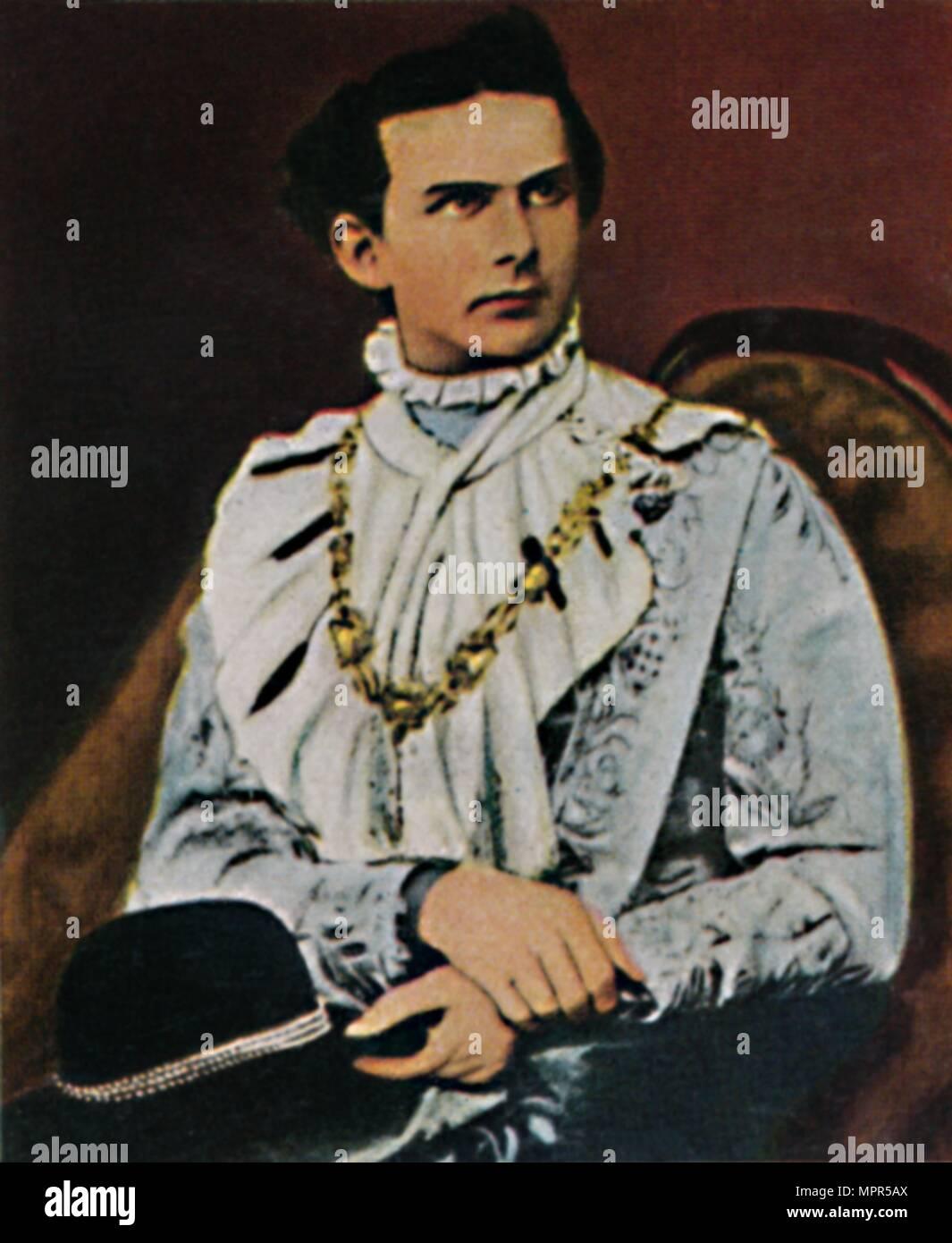 'König Ludwig II. von Bayern 1845-1886', 1934. Artist: Unknown. - Stock Image