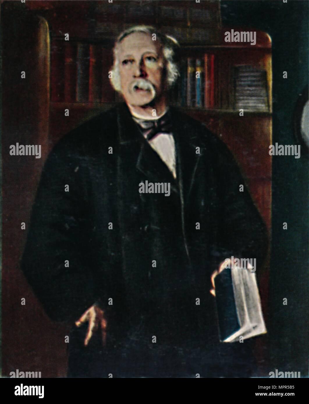 'Theodor Fontane 1819-1898. - Gemälde von Hanns Fechner', 1934. Artist: Unknown. Stock Photo