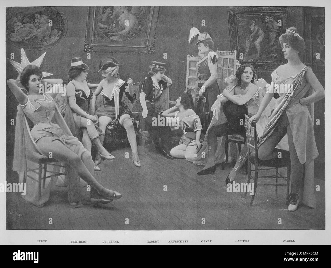'Le Foyer Des Artistes', 1900. Artist: Unknown. - Stock Image