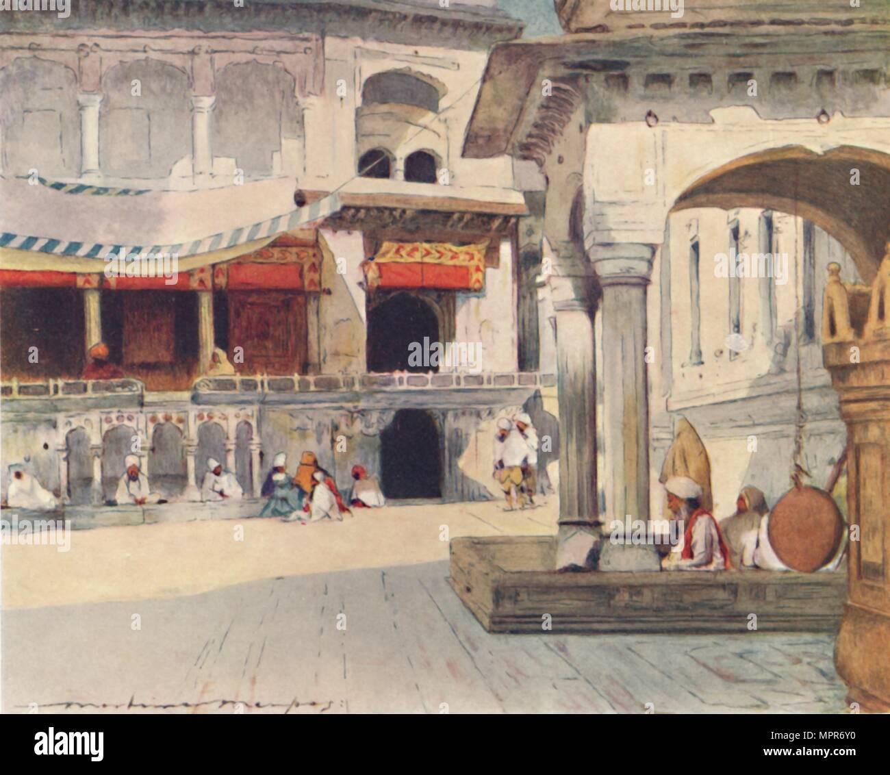 'In the Temple of Amritsar', 1905. Artist: Mortimer Luddington Menpes. - Stock Image