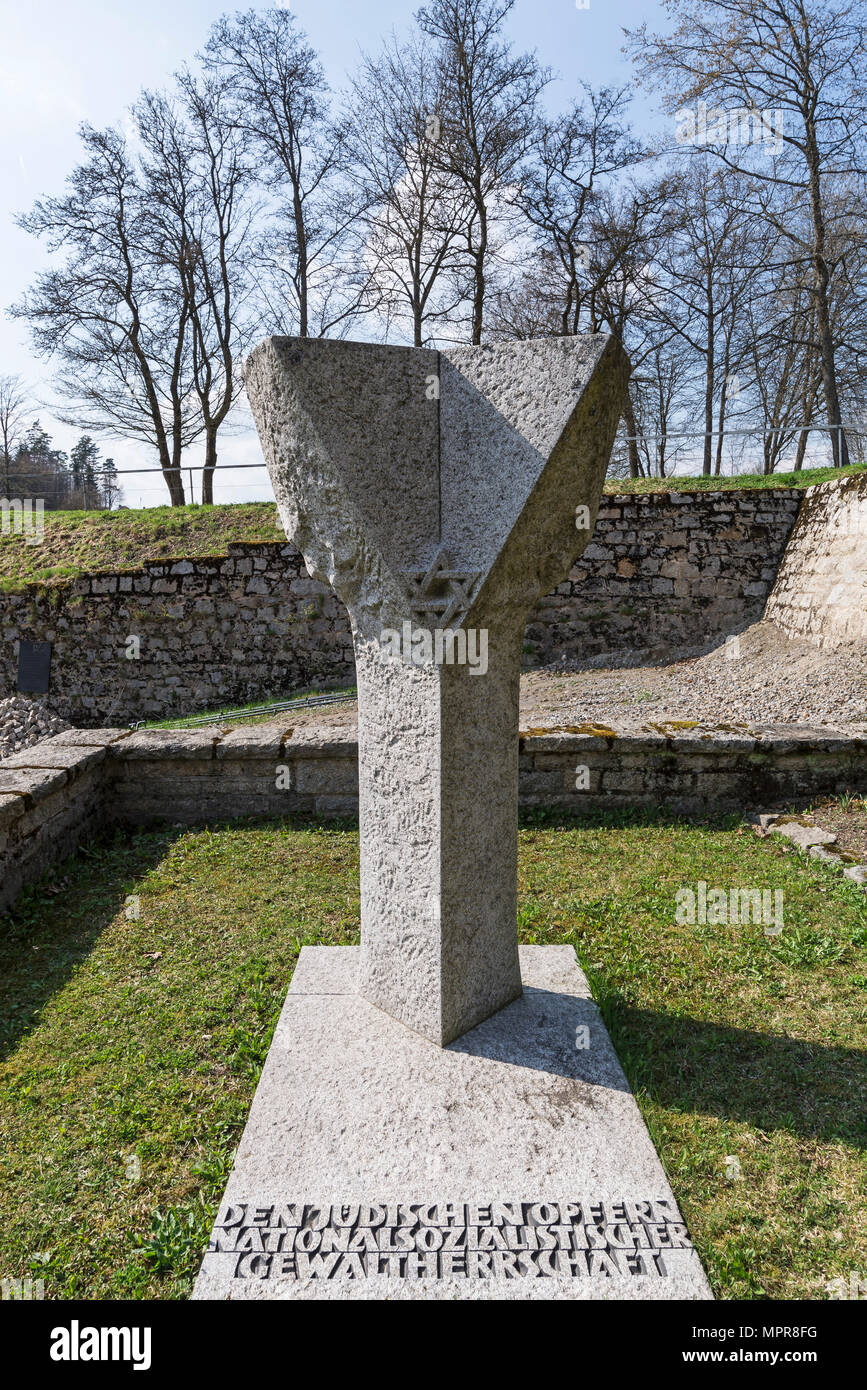 Monument to the Jewish victims of Nazi tyranny, Flossenbürg concentration camp memorial, 1938-1945, Flossenbürg - Stock Image