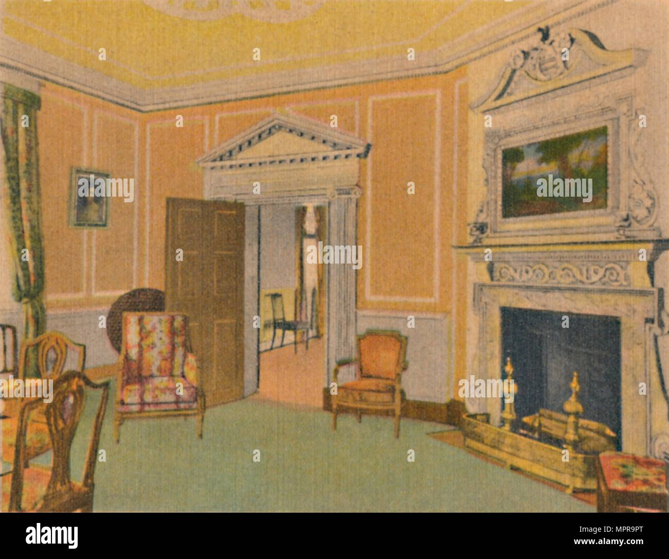 'The West Parlor', 1946. Artist: Unknown. - Stock Image