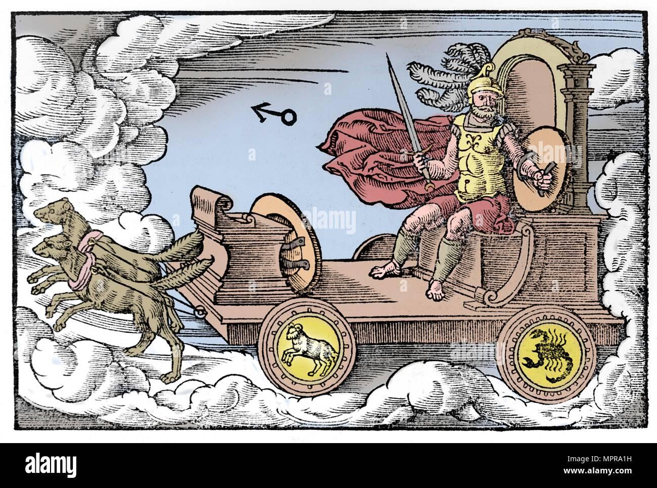 Mars, Roman god of war, 1569. Artist: Anon. - Stock Image