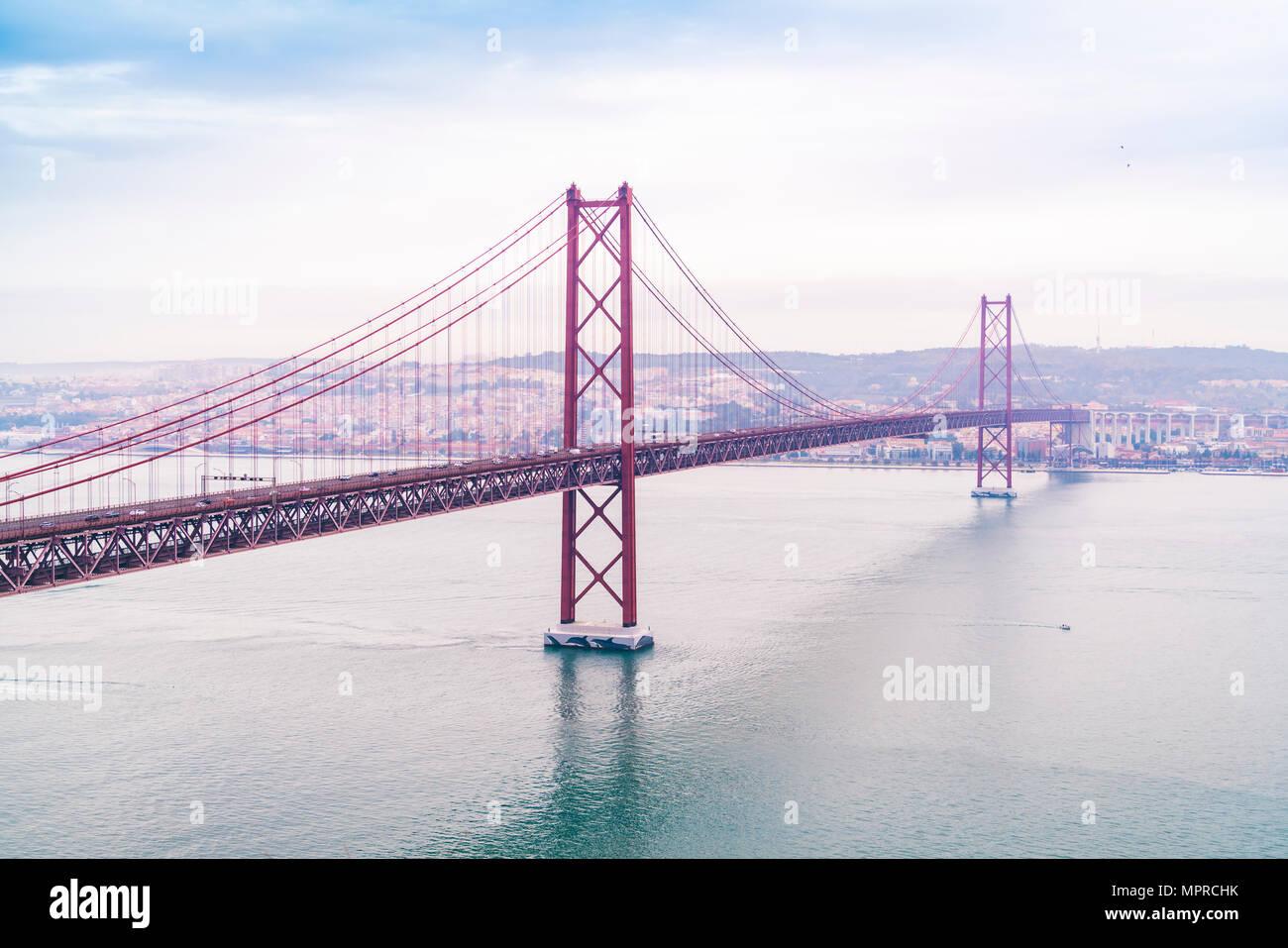 Portugal, Lisbon, Ponte 25 de Abril Stock Photo