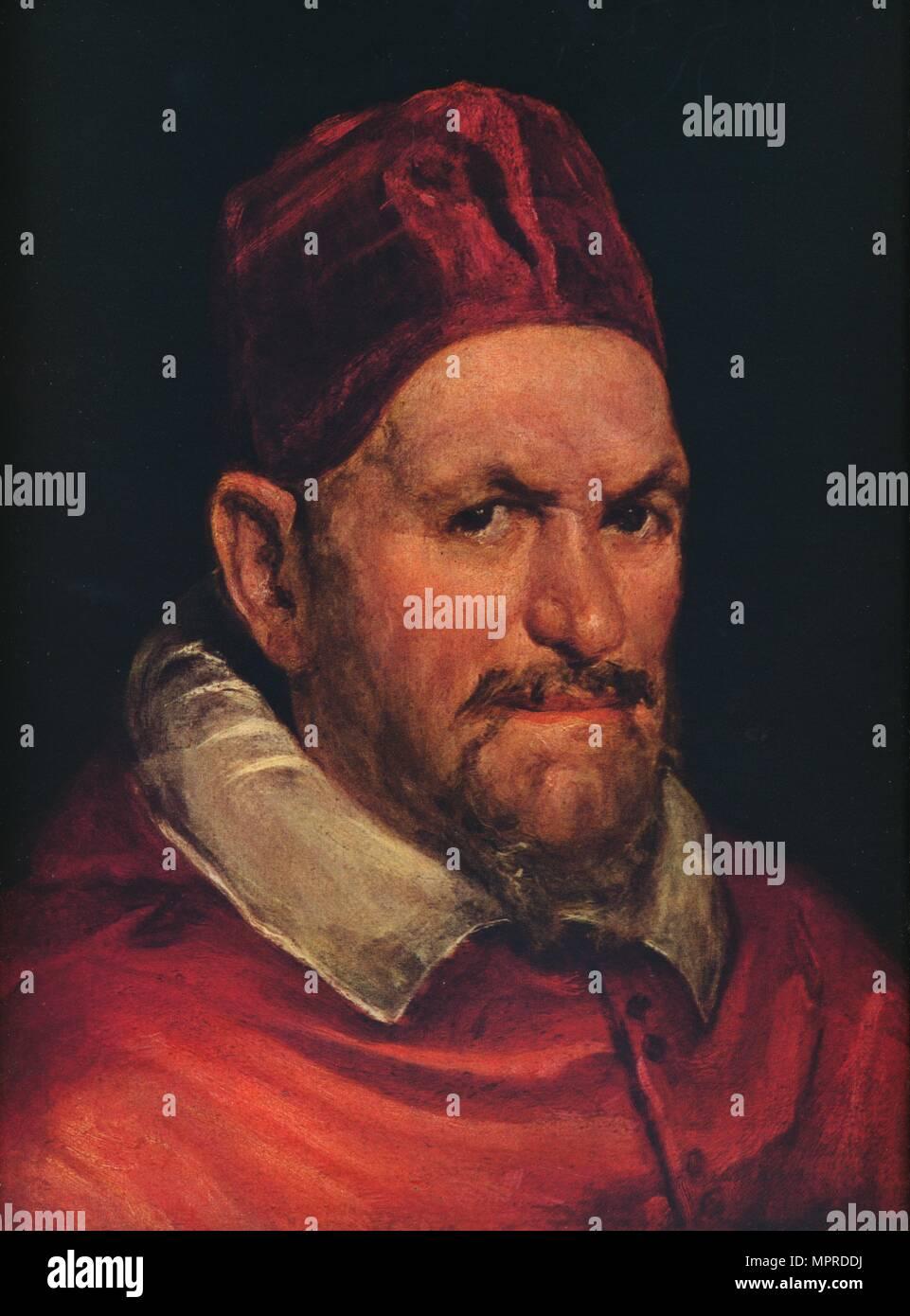 'Pope Innocent X', c1650. Artist: Diego Velazquez. - Stock Image