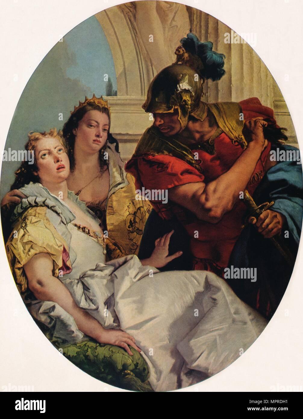 'Scene from Ancient History', c1750. Artist: Giovanni Battista Tiepolo. - Stock Image
