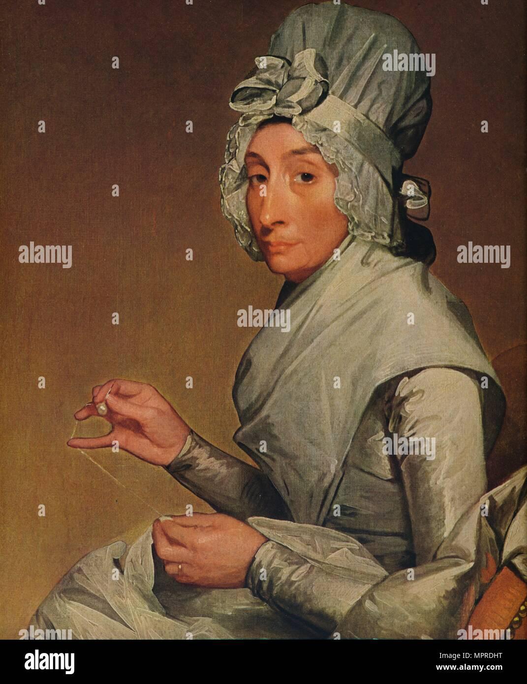 'Catherine Brass Yates (Mrs. Richard Yates)', 1793-1794. Artist: Gilbert Charles Stuart. - Stock Image