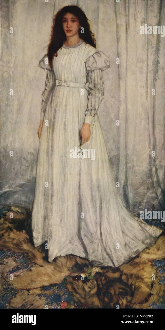 'The White Girl', 1862. Artist: James Abbott McNeill Whistler. - Stock Image