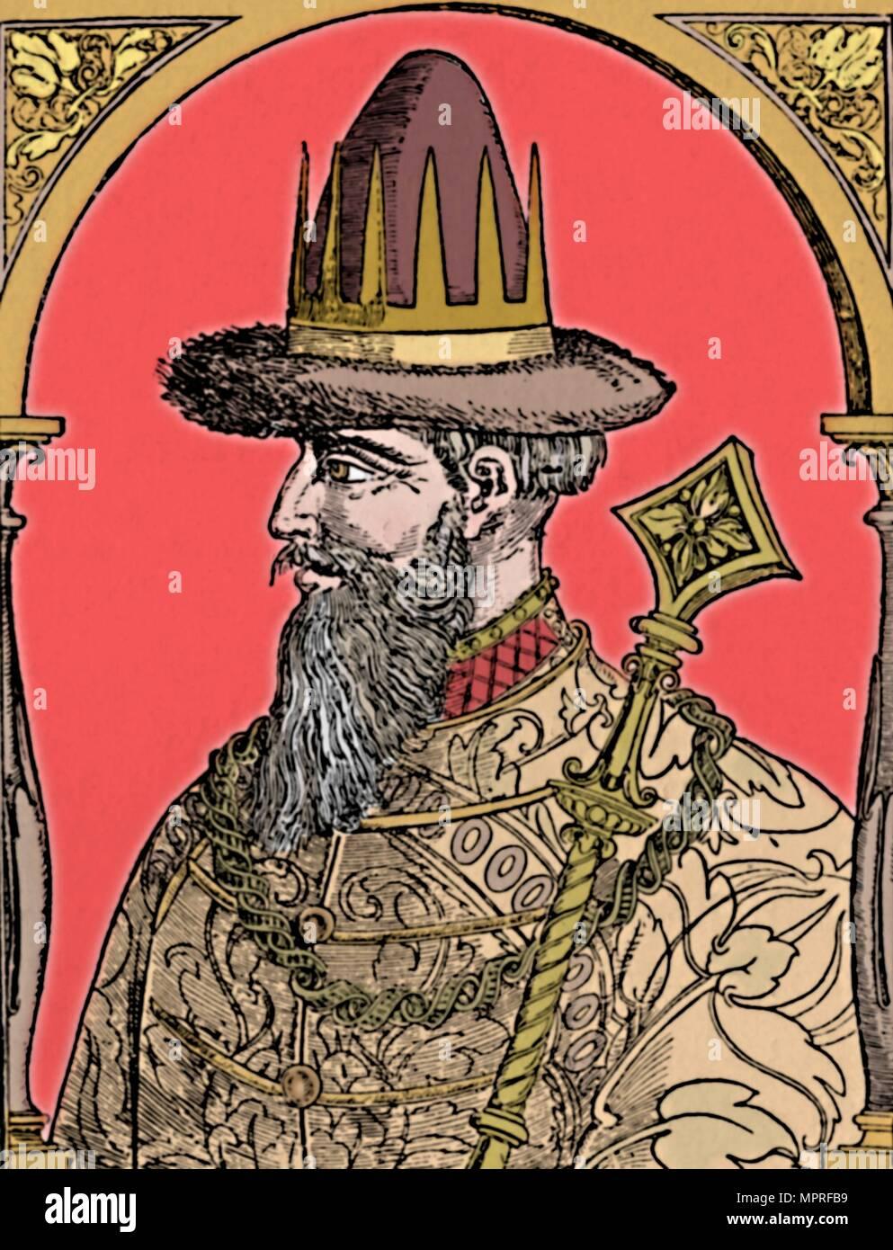 'The Czar Ivan the Terrible', 1590, (1903). Artist: Hans Wengel. - Stock Image