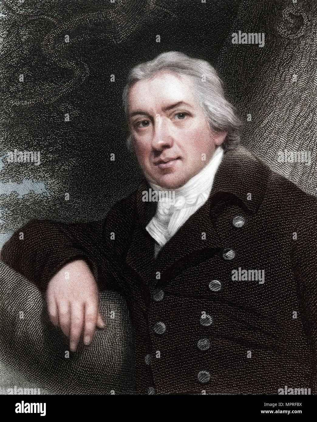 Edward Jenner, English physician, 1837.  Artist: Unknown. - Stock Image