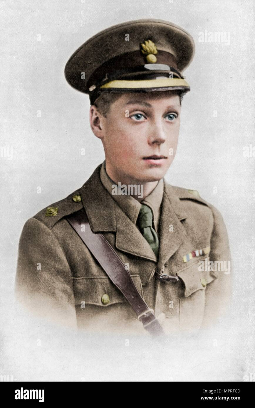 Edward, Prince of Wales, First World War, 1914-1918, (c1920).  Artist: Unknown. Stock Photo
