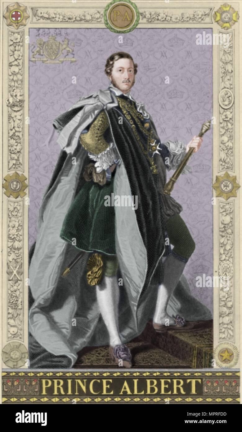'Prince Albert', 1886. Artist: G Levy. - Stock Image