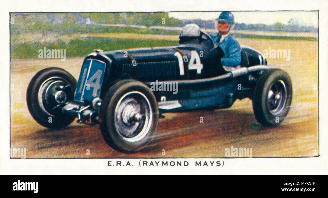 'E.R.A. (Raymond Mays)', 1938. Artist: Unknown. - Stock Image
