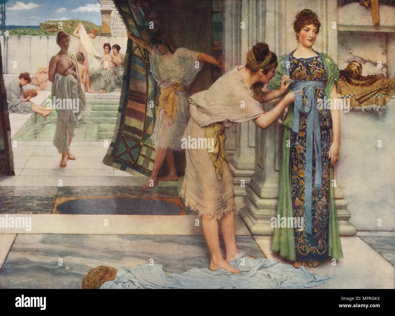 'The Frigidarium', 1890, (c1915). Artist: Sir Lawrence Alma-Tadema. - Stock Image