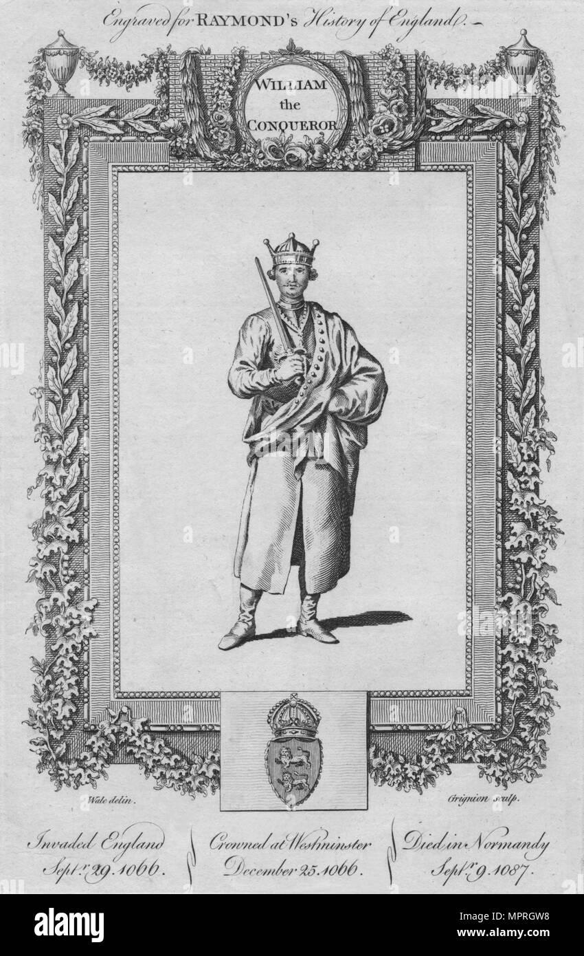 'William the Conqueror', c1787. Artist: Unknown. - Stock Image