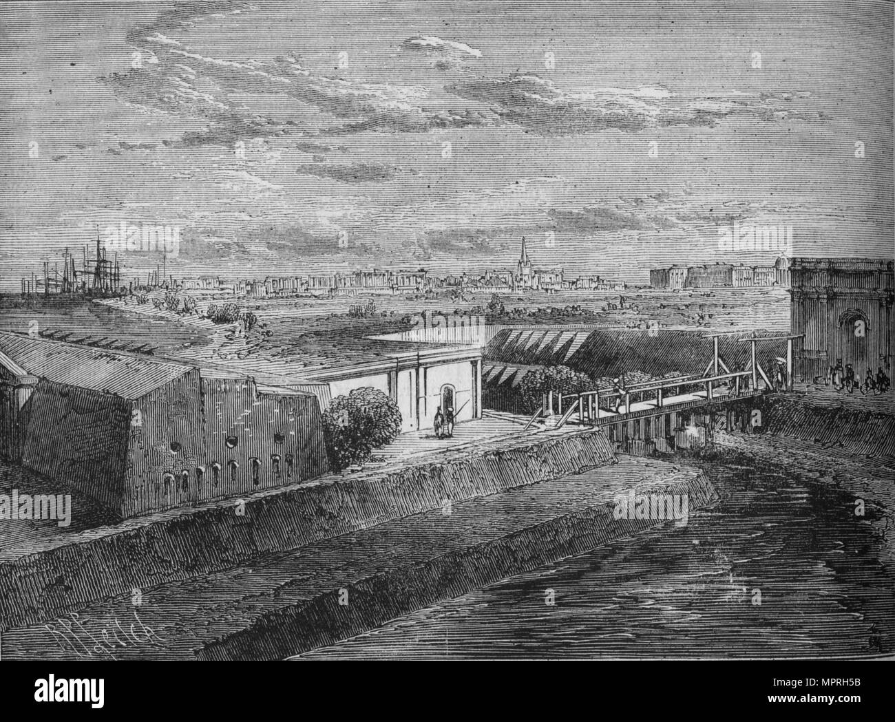 'Fort William', c1880. Artist: Richard Principal Leitch. - Stock Image