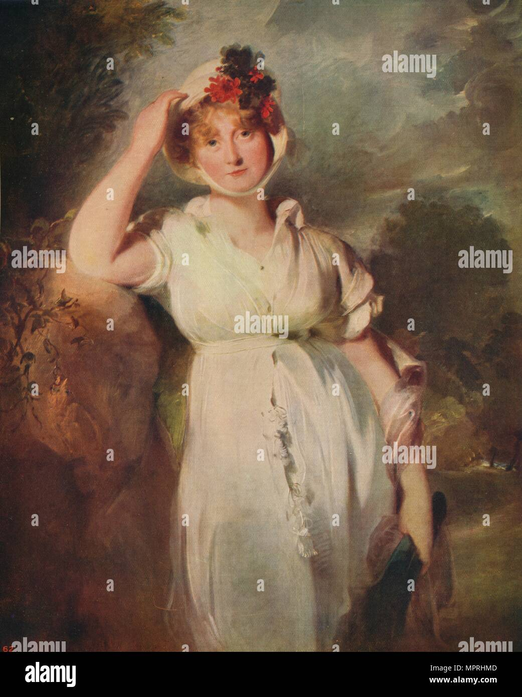 'Caroline of Brunswick (1768-1821), Queen of George IV', 1798, (c1915). Artist: Thomas Lawrence. - Stock Image