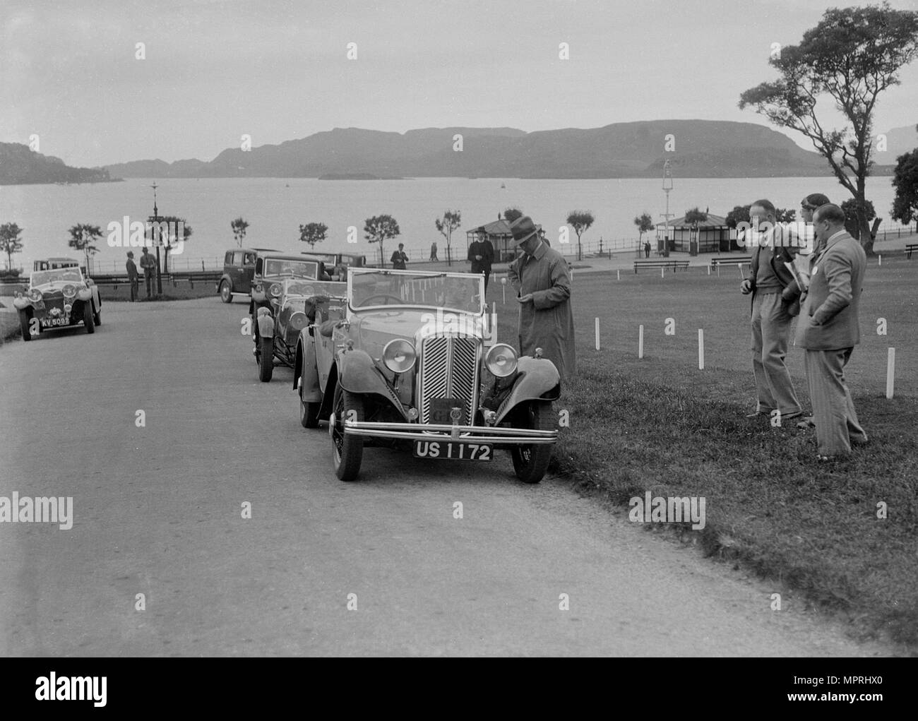Morris 10 of Captain Oliver Hughes-Onslow at the RSAC Scottish Rally, 1933. Artist: Bill Brunell. - Stock Image