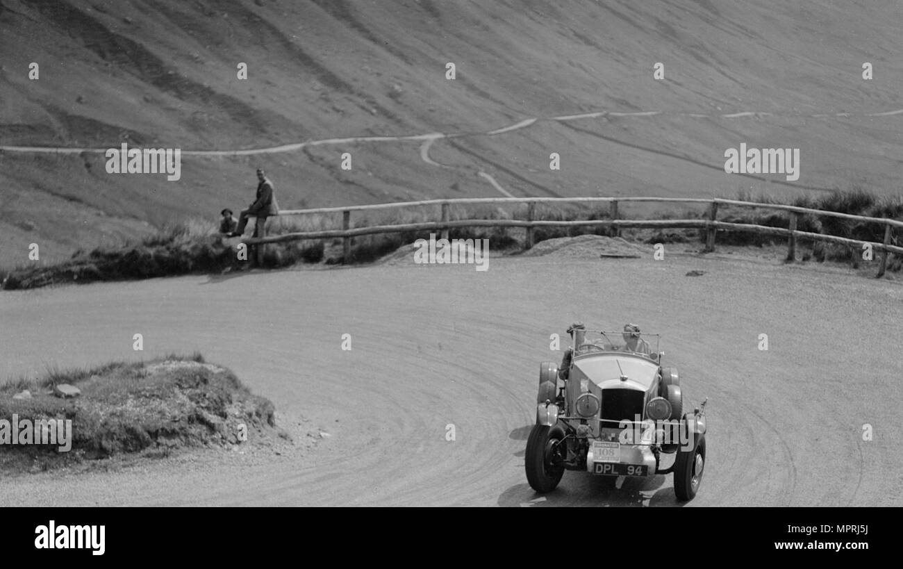 Railton of J Kingston-Whittaker, RSAC Scottish Rally, 1937. Artist: Bill Brunell. - Stock Image