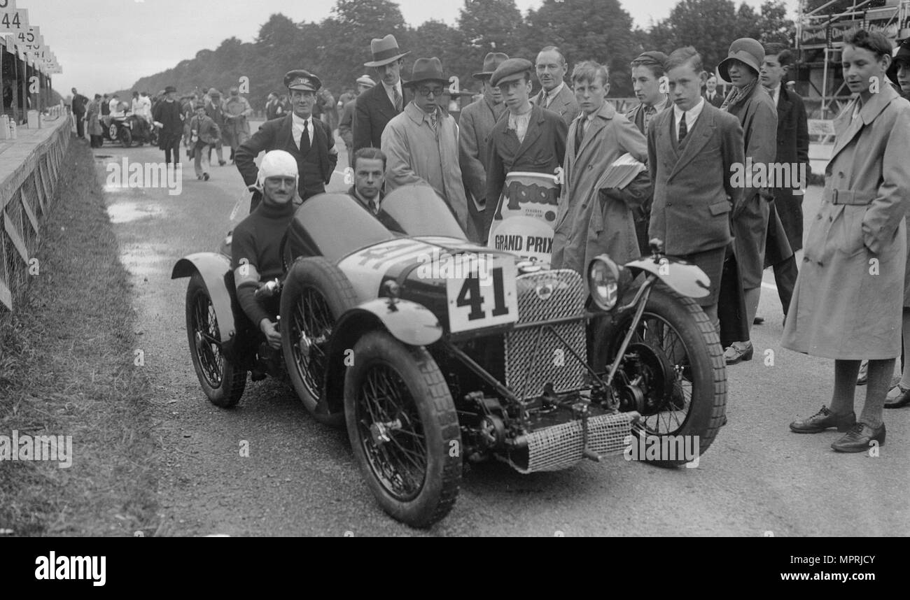 Amilcar of Goldie Gardner at the Irish Grand Prix, Phoenix Park, Dublin, 1930. Artist: Bill Brunell. - Stock Image