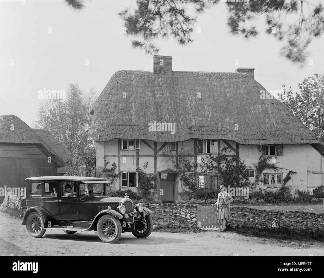 Buick 25/75 saloon, Garston, Wiltshire, c1930. Artist: Bill Brunell. - Stock Image