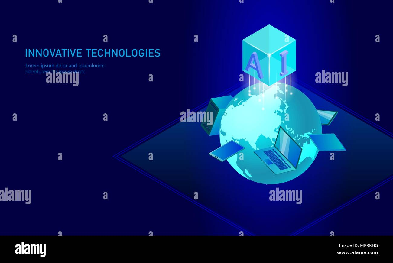 Radar Tracking Aircraft Vector Clip Wiring Circuit Diagram Information Technology Stock Images Alamy Isometric Artificial Intelligence Business Concept Blue Glowing Personal Data Connection Planet Earth Future