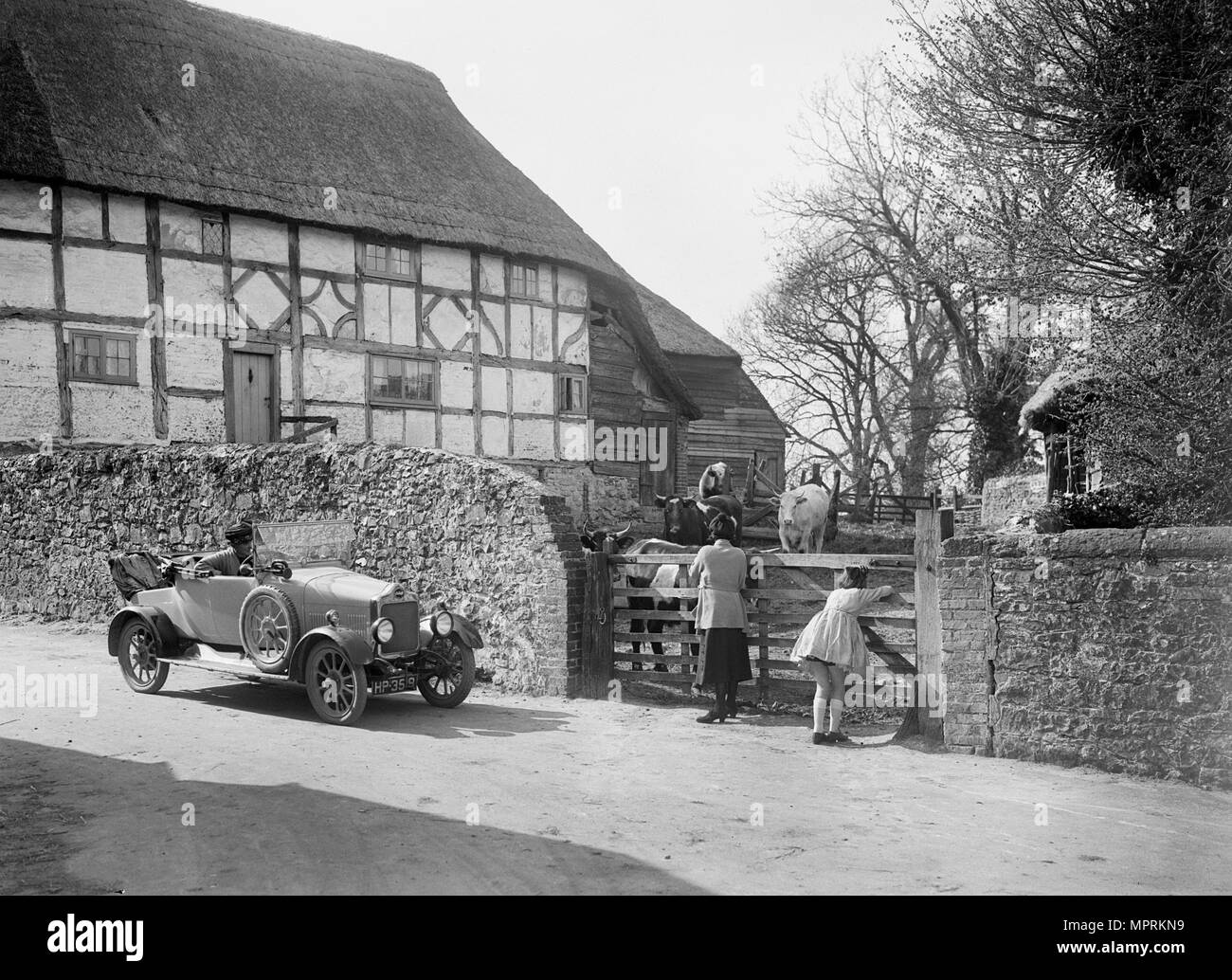 Calcott open tourer, Wantage, Oxfordshire, c1920s. Artist: Bill Brunell. - Stock Image