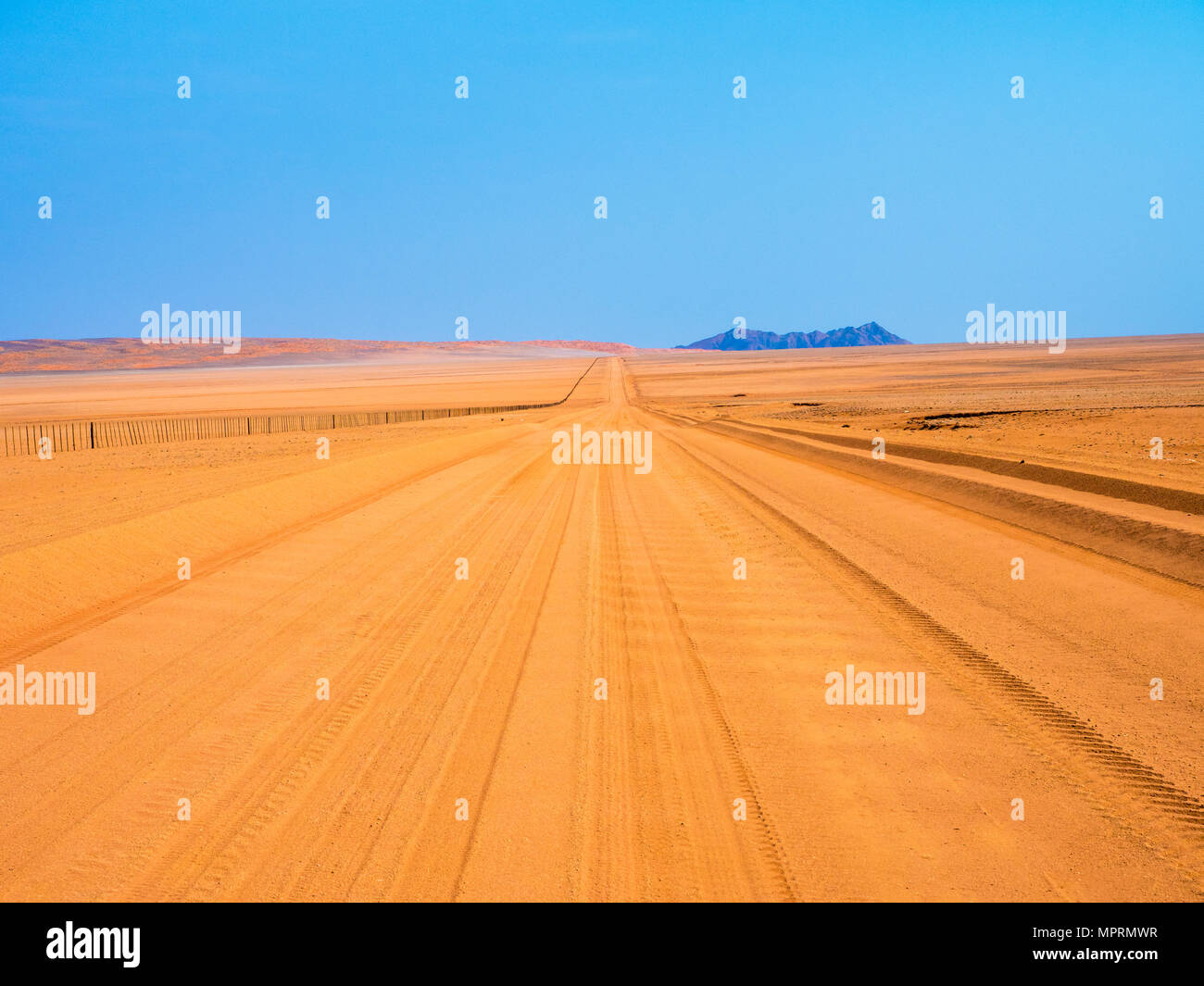 Africa, Namibia, Sand track D707 - Stock Image