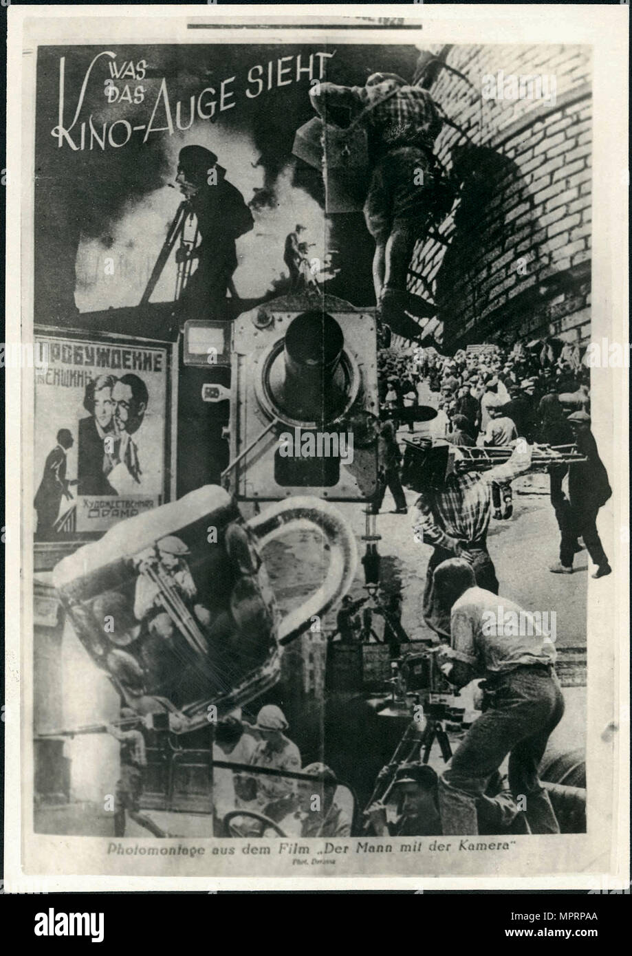Movie poster Man with a Movie Camera, 1929. - Stock Image