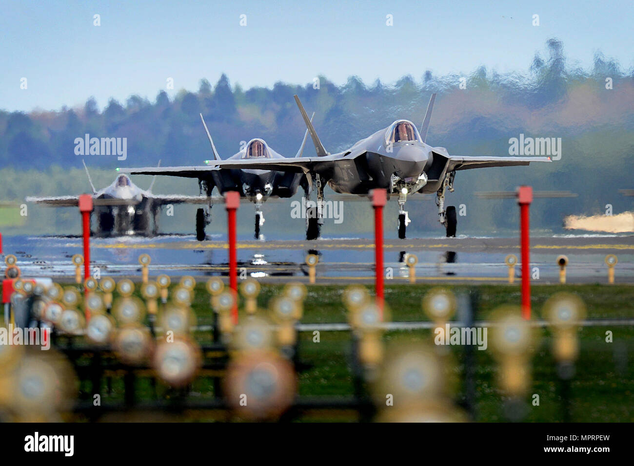 F-35A Lightning II aircraft assigned to the 34th Fighter
