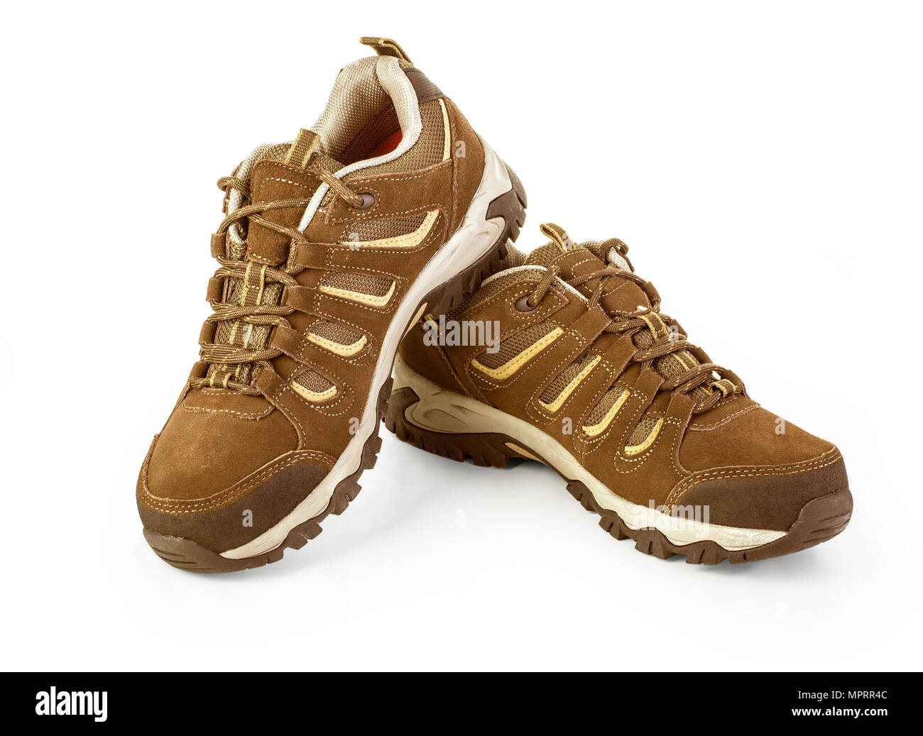 Unbranded modern sneakers isolated on a white background. with clipping path - Stock Image