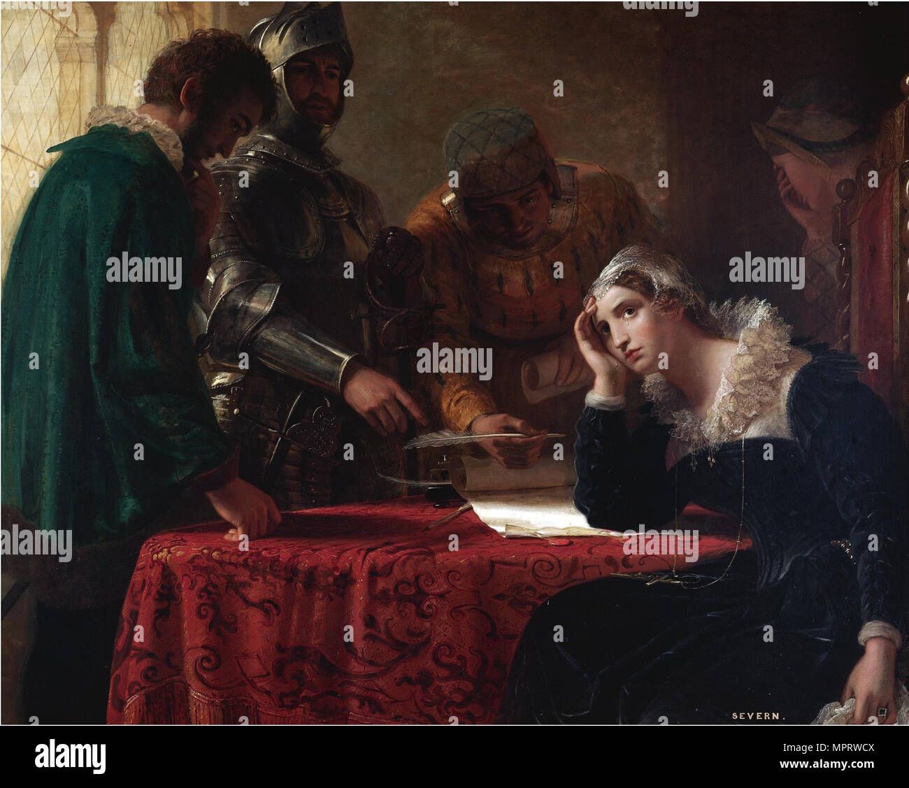 The Abdication of Mary, Queen of Scots. - Stock Image