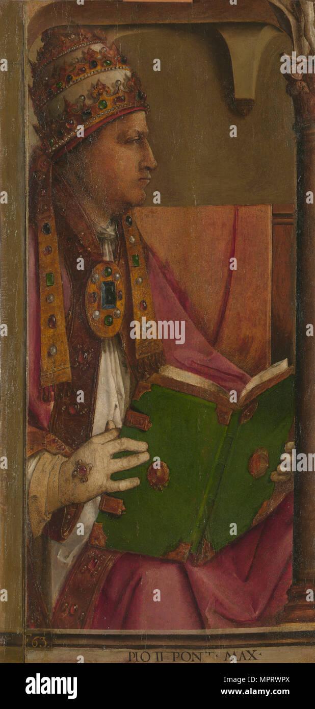 Pope Pius II. - Stock Image