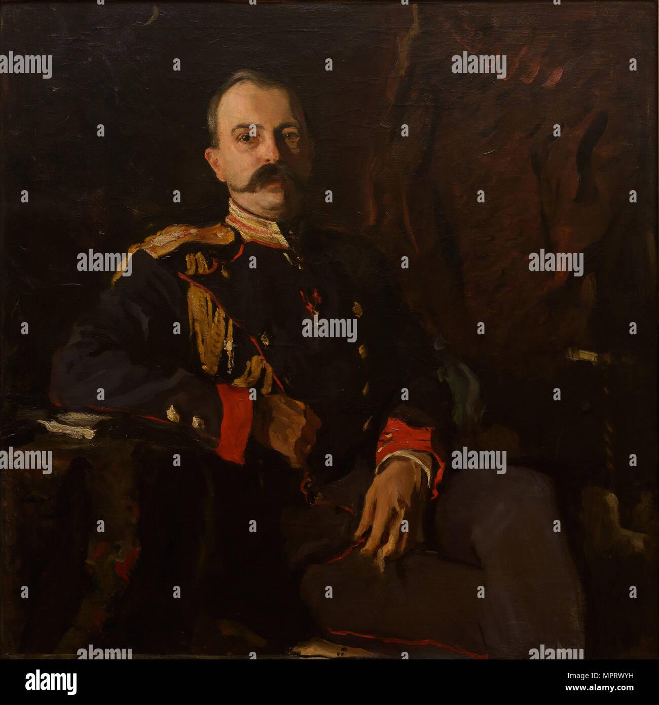 Portrait of Grand Duke George Mikhailovich of Russia (1863-1919). - Stock Image