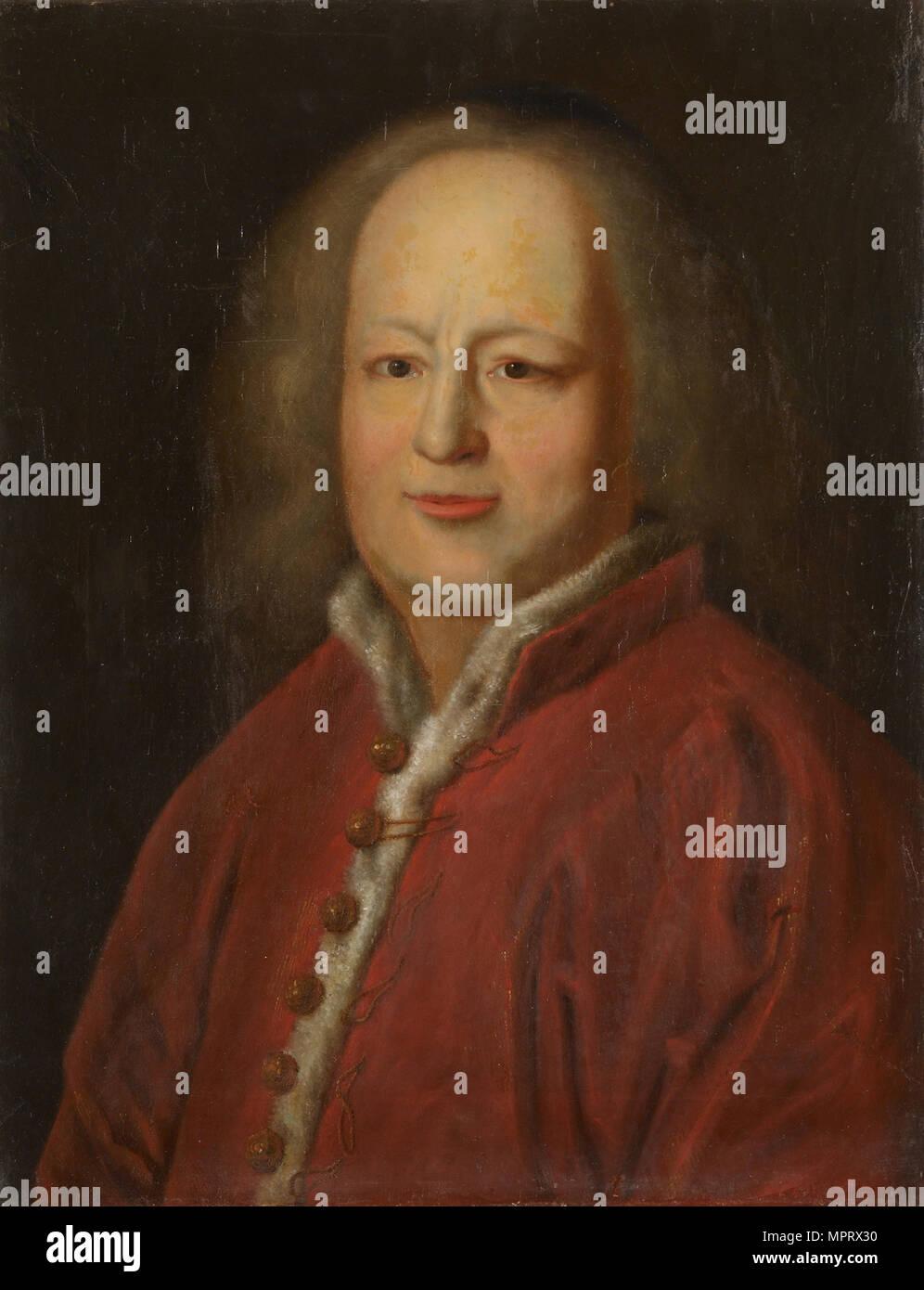 Portrait of Sir Isaac Newton (1642-1727). Stock Photo