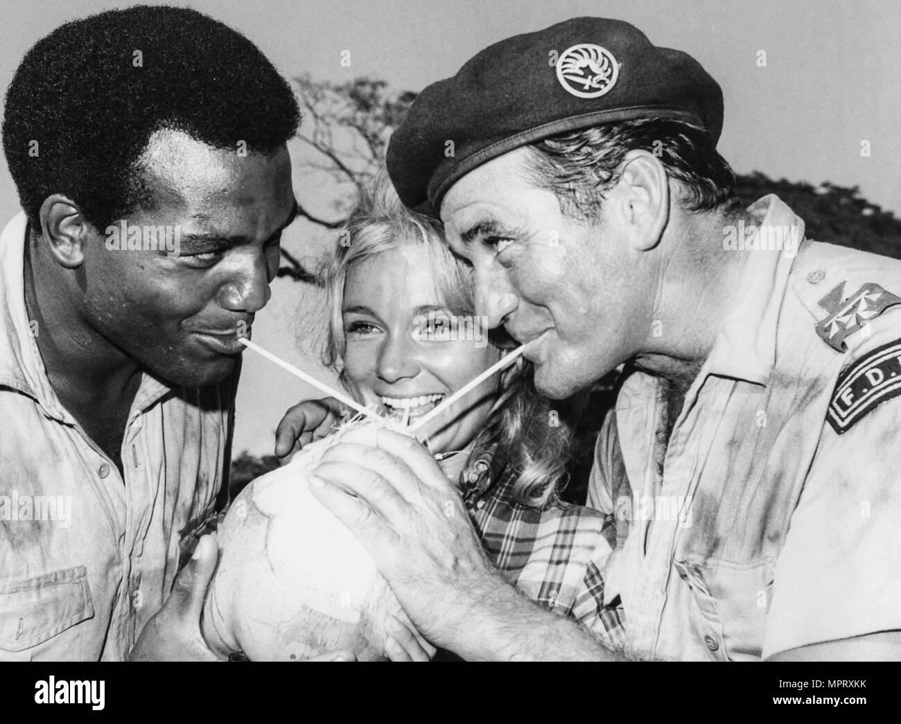 jim brown, yvette mimieux, rod taylor, 1967 - Stock Image