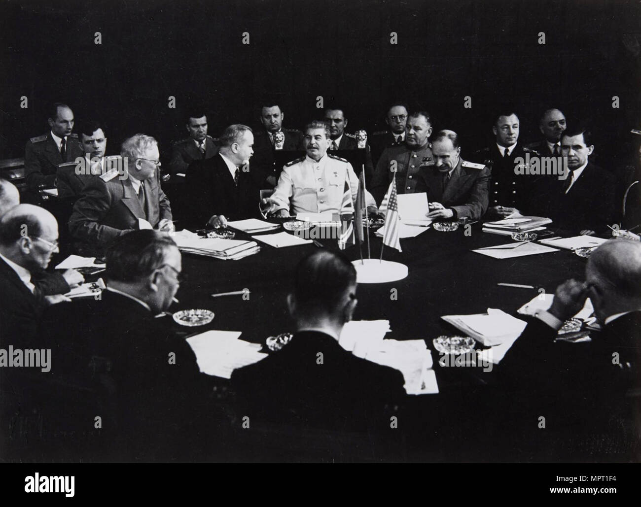 Stalin at the Potsdam Conference, July 1945, 1945. - Stock Image