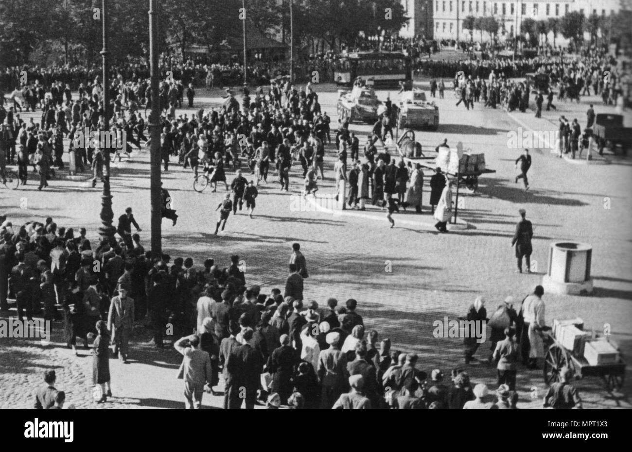 The Soviet Red Army in Riga, 1940, 1940. - Stock Image