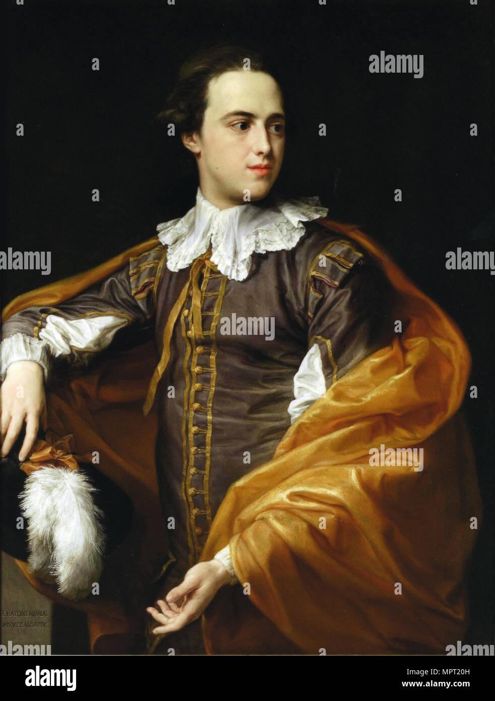 Portrait of Sir Charles Watson, 1775. - Stock Image