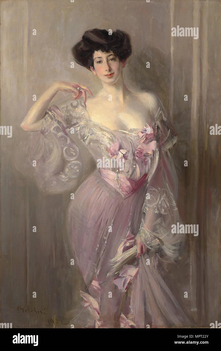 Portrait of Betty Wertheimer, 1902. - Stock Image