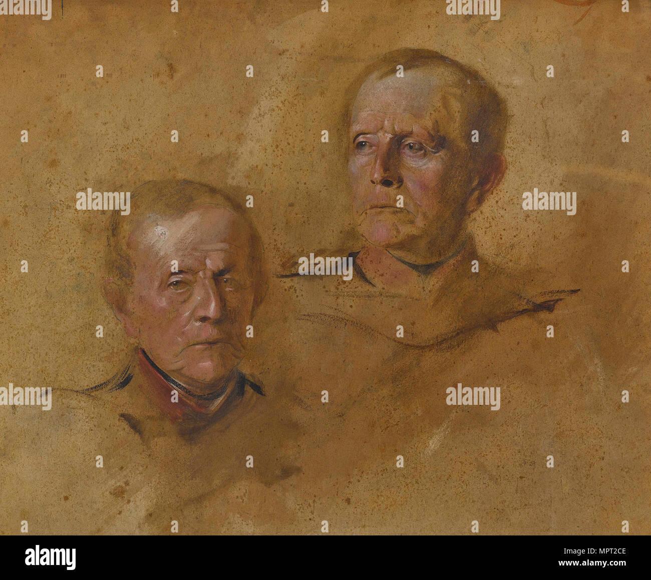 Portrait Studies of Field Marshal Helmuth Graf von Moltke (1800-1891), ca 1880-1885. - Stock Image
