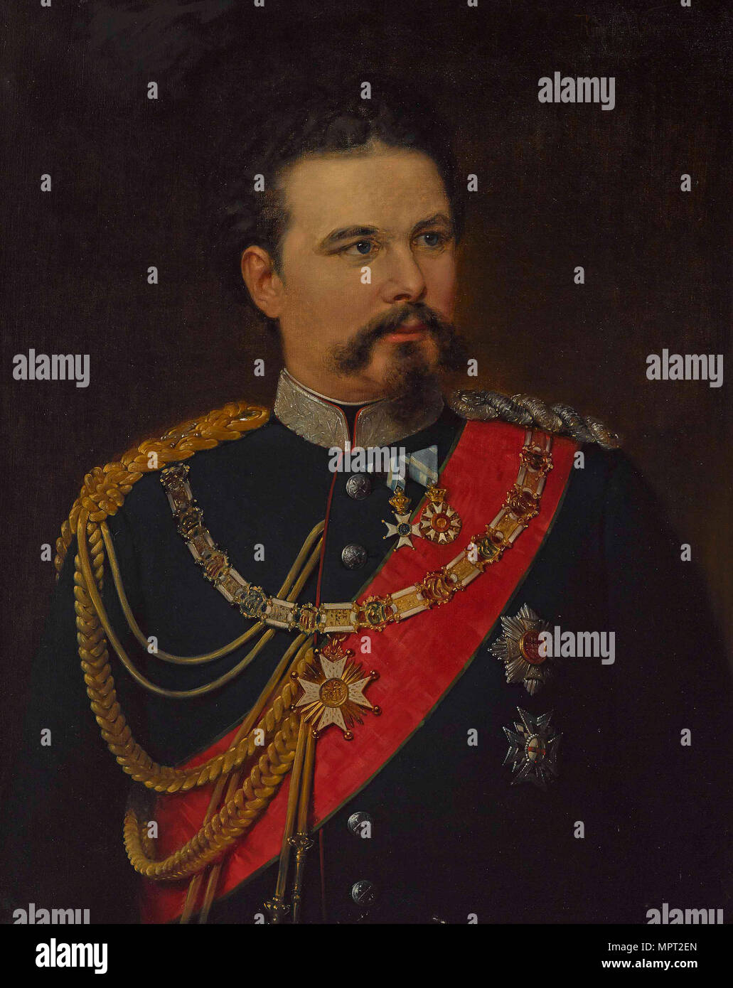Portrait of Ludwig II of Bavaria (1845-1886), 1883. - Stock Image