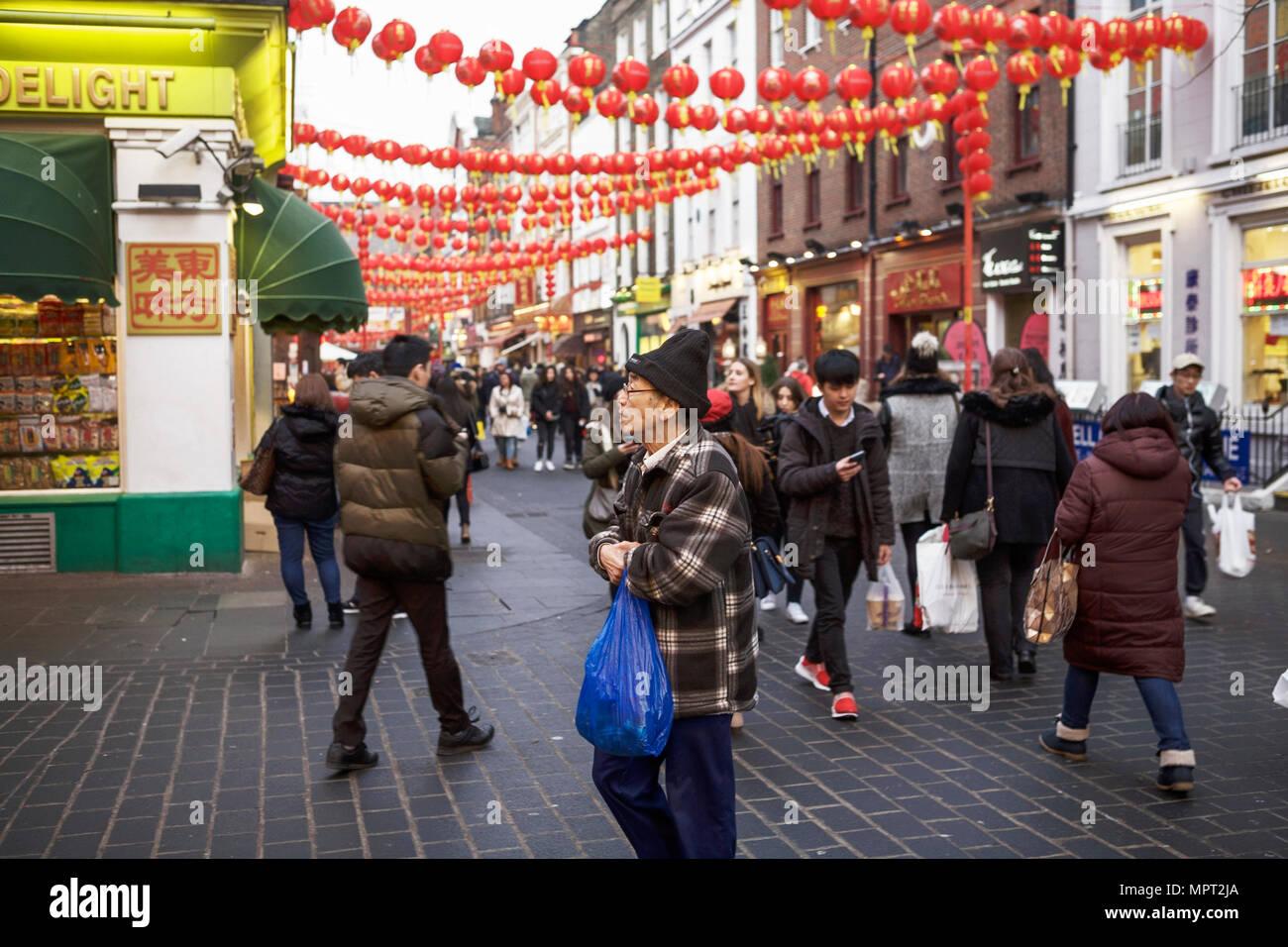 China Town London, UK. (Chinatown London) - Stock Image
