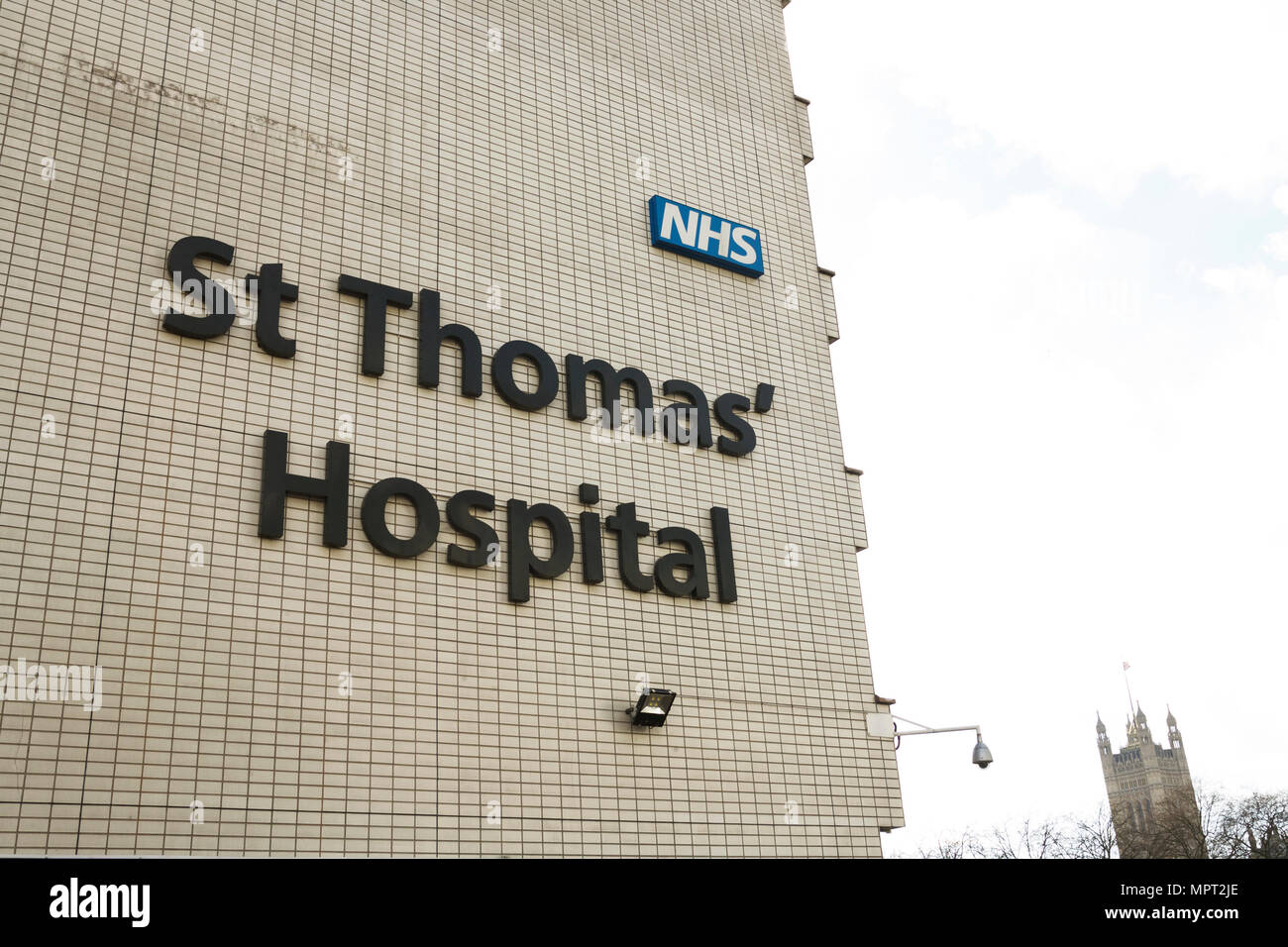 St Thomas Hospital London. - Stock Image
