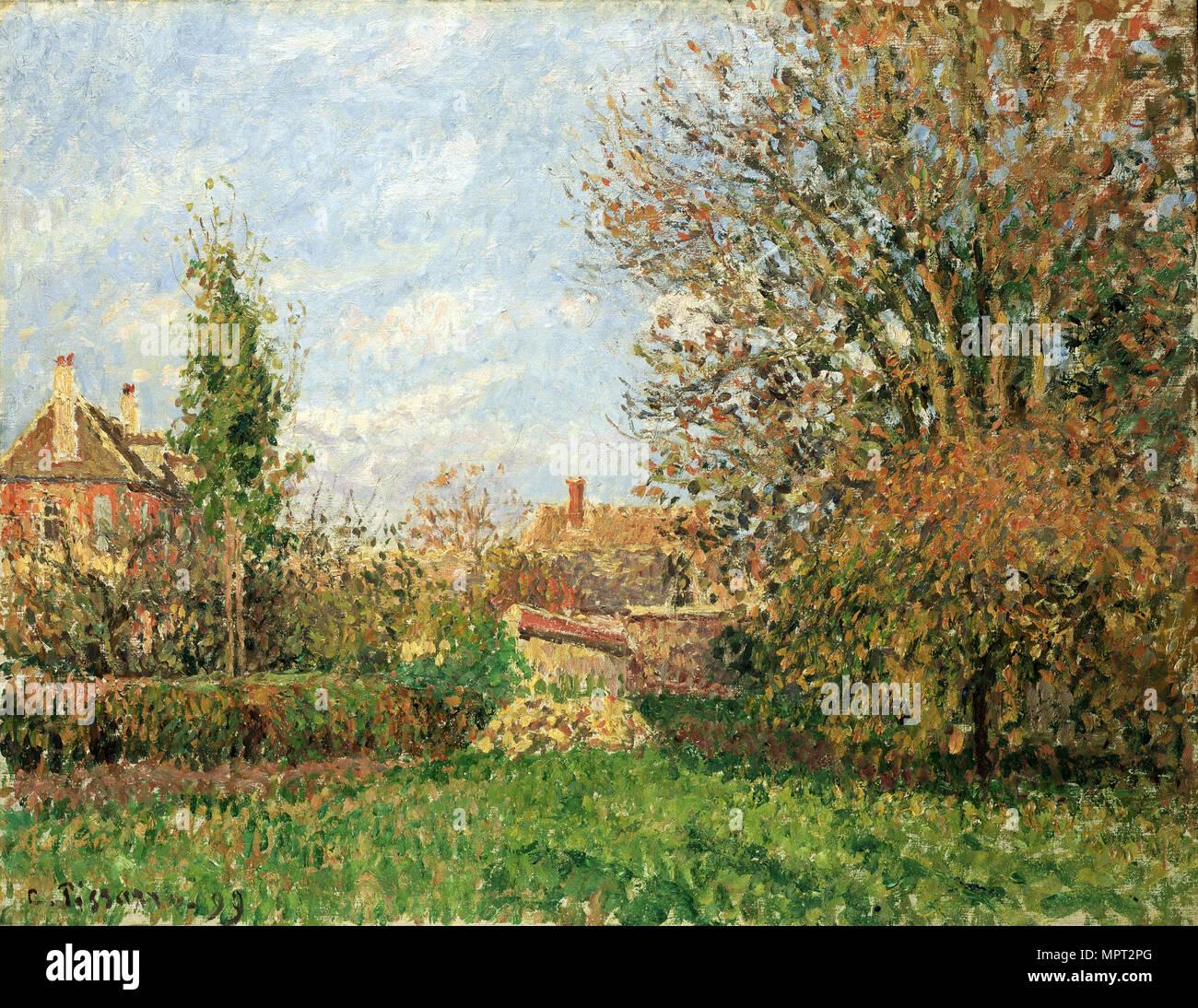 Autumn in Eragny (Automne à Eragny), 1899. - Stock Image